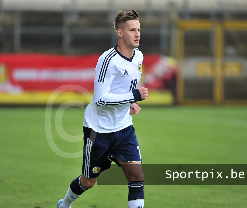 Scotland U19 - Belgium U19 : Billy King.foto DAVID CATRY / Nikonpro.be
