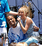 Disney Channel Superstar Hannah Montana, Miley Cyrus, preforms  a free concert celebrating her new DVD release, at Hollywood and Highland complex Hollywood, Ca. June 26, 2007. Fitzroy Barrett
