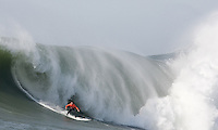 Chris Bertish. Mavericks Surf Contest in Half Moon Bay, California on February 13th, 2010.