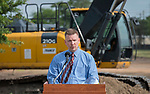Alan Summers comments during a groundbreaking ceremony for new Sam Houston Math, Science and Technology Center School, March 24, 2017.