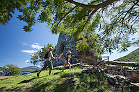 Hikers at Annaberg Plantation<br />