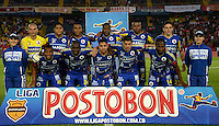 BOGOTÁ -COLOMBIA, 01-04-2014. Jugadores del Pasto posan para una fotografía de grupo previo al encuentro entre Independiente Santa Fe y Deportivo Pasto  por la fecha 14 de la Liga Postobón  I 2014 disputado en el estadio Nemesio Camacho El Campín de la ciudad de Bogotá./ Players of Pasto pose to the photo group prior of the match between Independiente Santa Fe and Deportivo Pasto for the 14th date of the Postobon  League I 2014 played at Nemesio Camacho El Campin stadium in Bogotá city. Photo: VizzorImage/ Diana sanchez / Str