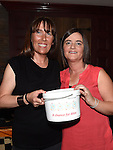 Alison Harmon and Natasha Lambe who organized the sponsored waxing to raise money for the Chance For Alice fund in the Dunleer Inn.  Photo:Colin Bell/pressphotos.ie