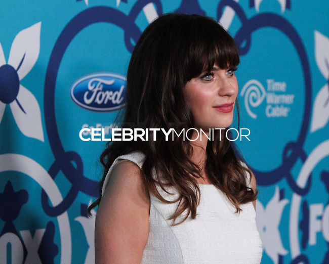 SANTA MONICA, CA - SEPTEMBER 09: Actress Zooey Deschanel arrives at the FOX Fall Eco-Casino Party 2013 held at The Bungalow on September 9, 2013 in Santa Monica, California. (Photo by Xavier Collin/Celebrity Monitor)