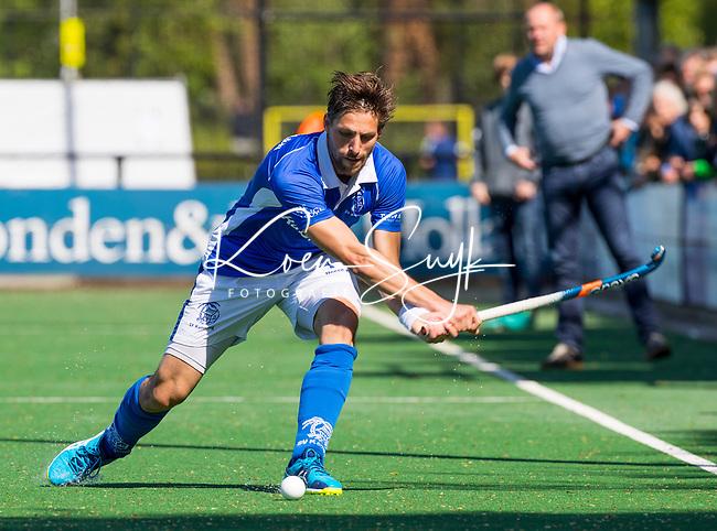 BLOEMENDAAL  - Bjorn Kellerman (Kampong)  tijdens  de play offs heren hoofdklasse Bloemendaal-Kampong (0-2) . Kampong plaatst zich voor de finale.  COPYRIGHT KOEN SUYK