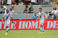 Carson, California - Saturday Aug. 2, 2014: The LA Galaxy defeated the Portland Timbers 3-1 in a Major League Soccer (MLS) match at StubHub Center stadium.