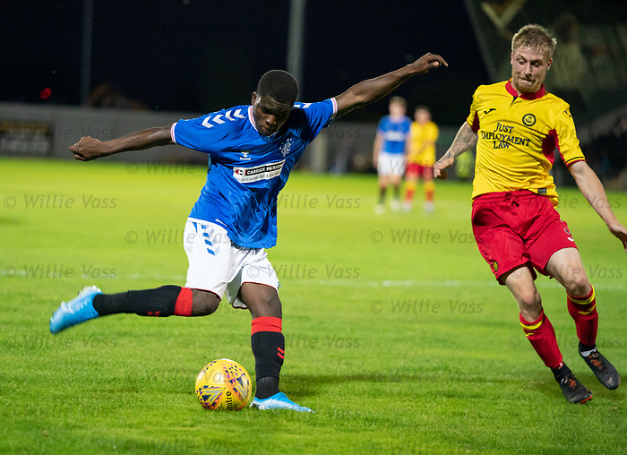 26.08.2019 Rangers Colts v Partick Thistle: Serge Atakayi and Thomas Robson