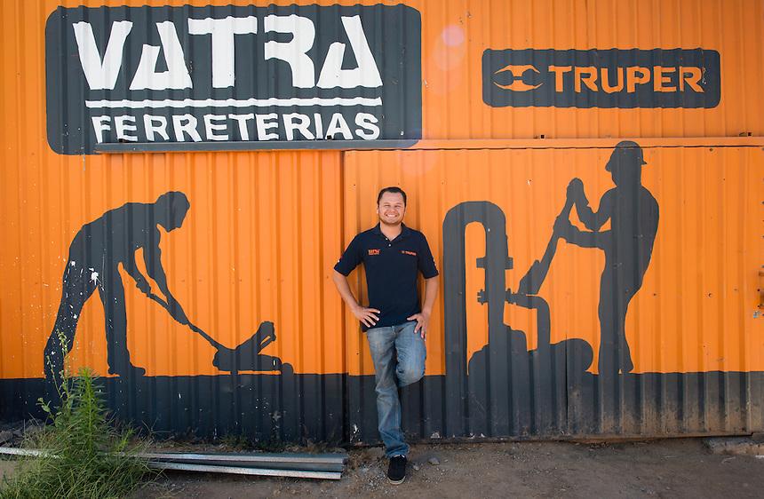 Fabian Valdez Trapero. Hardware store owners in Culiacan, Sinaloa,  Mexico