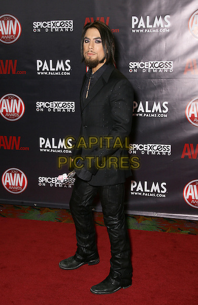 DAVE NAVARRO.2010 AVN Awards at the Pearl Theater inside the Palms Resort Hotel and Casino, Las Vegas, Nevada, USA, .9th January 2010..full length black suit side boots .CAP/ADM/MJT.© MJT/AdMedia/Capital Pictures.