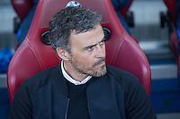 Luis Enrique Martinez coach  of Futbol Club Barcelona during the match of Spanish La Liga between Atletico de Madrid and Futbol Club Barcelona at Vicente Calderon Stadium in Madrid, Spain. February 26, 2017. (Rodrigo Jimenez / ALTERPHOTOS) /NortEPhoto.com