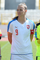 20180307 - LARNACA , CYPRUS : Czech Lucie Vonkova pictured during a women's soccer game between  Slovakia and the Czech Republic , on Wednesday 7 March 2018 at the GSZ Stadium in Larnaca , Cyprus . This is the final game in a decision for 9 th or 10 th place of the Cyprus Womens Cup , a prestigious women soccer tournament as a preparation on the World Cup 2019 qualification duels. PHOTO SPORTPIX.BE | DAVID CATRY
