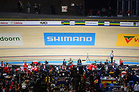 Picture by SWpix.com - 01/03/2018 - Cycling - 2018 UCI Track Cycling World Championships, Day 2 - Omnisport, Apeldoorn, Netherlands - Shimano branding
