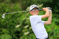 Fionn Dobbin (Malone) during the Connacht U14 Boys Amateur Open, Ballinasloe Golf Club, Ballinasloe, Galway,  Ireland. 10/07/2019<br /> Picture: Golffile | Fran Caffrey<br /> <br /> <br /> All photo usage must carry mandatory copyright credit (© Golffile | Fran Caffrey)