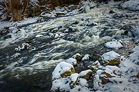 Fors i vinterskrud vid Nyfors i Tyresö
