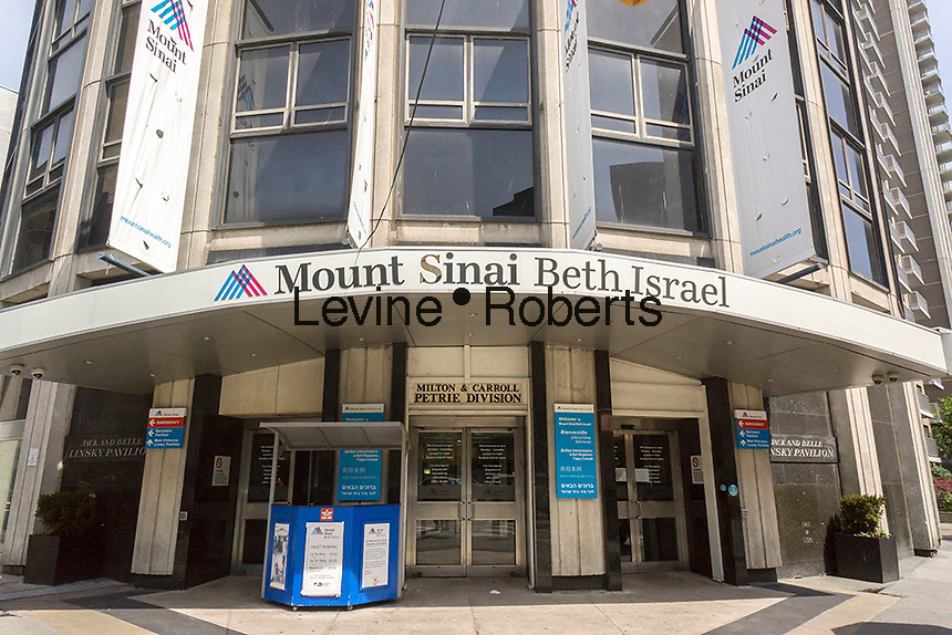 The Linsky Pavilion of Mt. Sinai Beth Israel Medical Center in New York on Saturday, May 14, 2016. The Villager, a local newspaper, has reported the Mt. Sinai is planning to close the iconic East Side hospital. The Mount Sinai Health System, the owner of this hospital and numerous others, has denied that it intends to close the facility. The 856 bed hospital has served the East Side of Manhattan for over 125 years. (©Richard B. Levine)