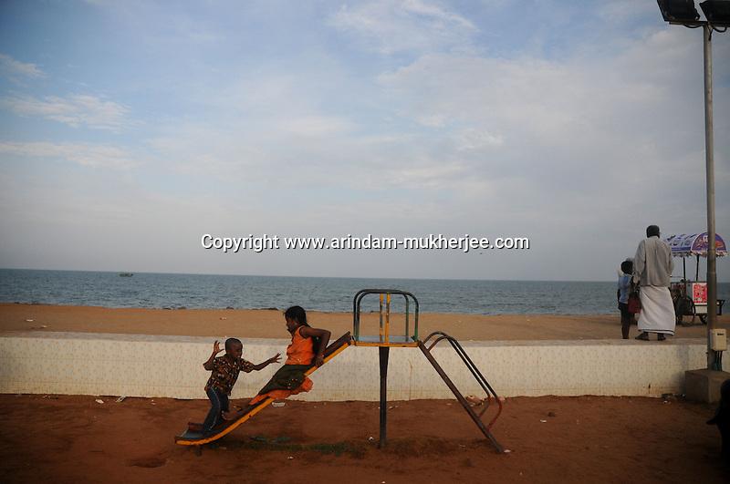 Children playing at a park near the beach in Pondicherry.Arindam Mukherjee/Sipa