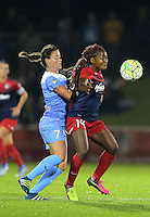 Boyds, MD - Friday Sept. 30, 2016: Taylor Comeau, Francisca Ordega during a National Women's Soccer League (NWSL) semi-finals match between the Washington Spirit and the Chicago Red Stars at Maureen Hendricks Field, Maryland SoccerPlex. The Washington Spirit won 2-1 in overtime.