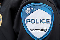 SPVM Montreal Police badge is seen during a police memorial parade in Ottawa Sunday September 26, 2010.