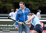 AMSTELVEEN - coach Jorge Nolte (Hurley).  Hoofdklasse competitie dames, Hurley-HDM (2-0) . COPYRIGHT KOEN SUYK