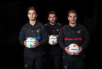 (l-r) Henry Newcombe, Matt Ingram & Scott Brown during the PEAK Elite Sportswear Photoshoot at Wycombe Training Ground, High Wycombe, England on 1 August 2017. Photo by PRiME Media Images.