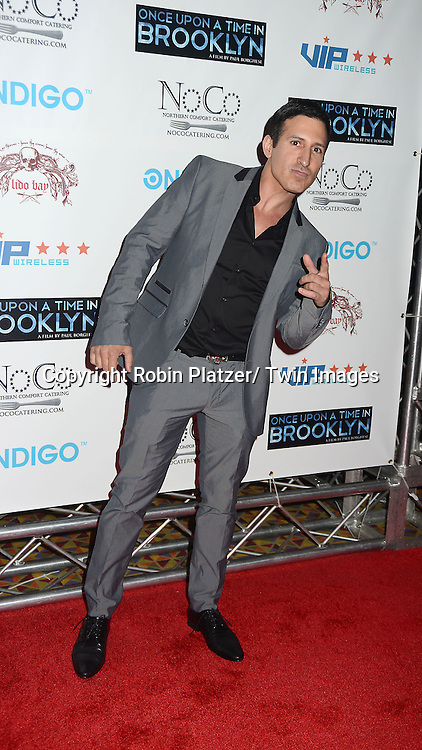 """William DeMeo attends the New York Premiere of """"Once Upon A Time in Brooklyn""""  on April 29, 2013 at AMC Empire Theaters in New York City. The movie stars William DeMeo, Armand Assante, Lorraine Ziff, Vincent Pastore, Vinny Vella, Tony Darrow, Samantha Ivers. Lola Jimoh and Ice-T."""