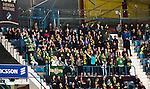 Stockholm 2014-11-16 Ishockey Hockeyallsvenskan AIK - IF Bj&ouml;rkl&ouml;ven :  <br /> Bj&ouml;rkl&ouml;vens supportrar p&aring; Hovet under matchen mellan AIK och IF Bj&ouml;rkl&ouml;ven <br /> (Foto: Kenta J&ouml;nsson) Nyckelord:  AIK Gnaget Hockeyallsvenskan Allsvenskan Hovet Johanneshov Isstadion Bj&ouml;rkl&ouml;ven L&ouml;ven IFB supporter fans publik supporters
