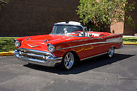 1957 Cruiser Class (#99C) – 1957 Chevrolet Bel Air Convertible registered to John Neiding Jr. is pictured during 4th State Representative Chevy Show on Thursday, June 30, 2016, in Fort Wayne, Indiana. (Photo by James Brosher)