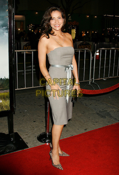 "CONSTANCE MARIE.""Shooter"" Los Angeles Premiere held at Mann Village Theatre, Westwood, California, USA,.08 March 2007..full length strapless grey dress.CAP/ADM/RE.©Russ Elliot/AdMedia/Capital Pictures."