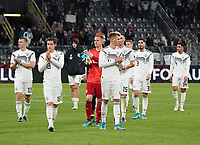 Deutsche Mannschaft bedankt sich bei den Fans, Lukas Klostermann (Deutschland Germany), Torwart Marc-Andre ter Stegen (Deutschland Germany), Robin Koch (Deutschland Germany), Niklas Süle (Deutschland Germany),Suat Serdar (Deutschland Germany) - 09.10.2019: Deutschland vs. Argentinien, Signal Iduna Park, Freunschaftsspiel<br /> DISCLAIMER: DFB regulations prohibit any use of photographs as image sequences and/or quasi-video.