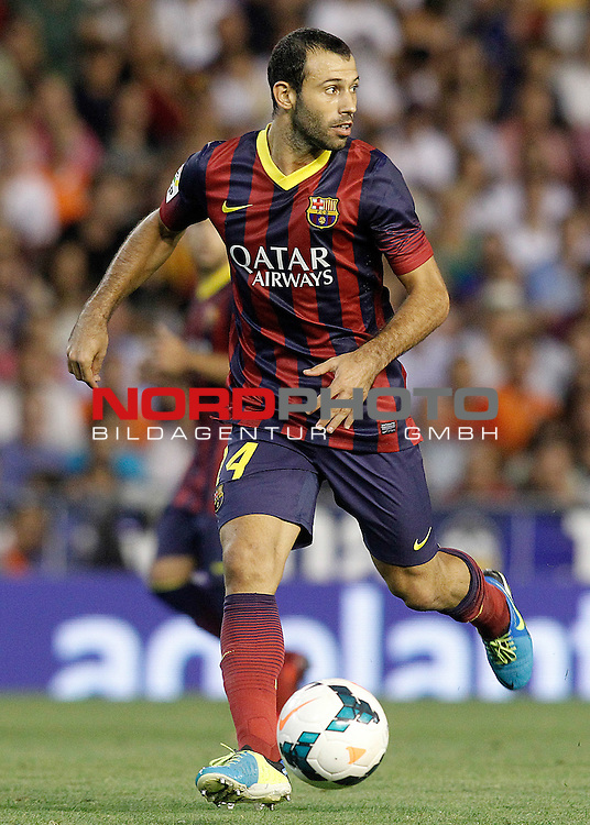 FC Barcelona's Javier Mascherano during La Liga match.September 1,2013. Foto © nph / Acero)