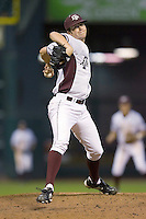 Relief pitcher Ross Hales #28 of the Texas A&M Aggies in action versus the Houston Cougars in the 2009 Houston College Classic at Minute Maid Park March 1, 2009 in Houston, TX.  The Aggies defeated the Cougars 5-3. (Photo by Brian Westerholt / Four Seam Images)