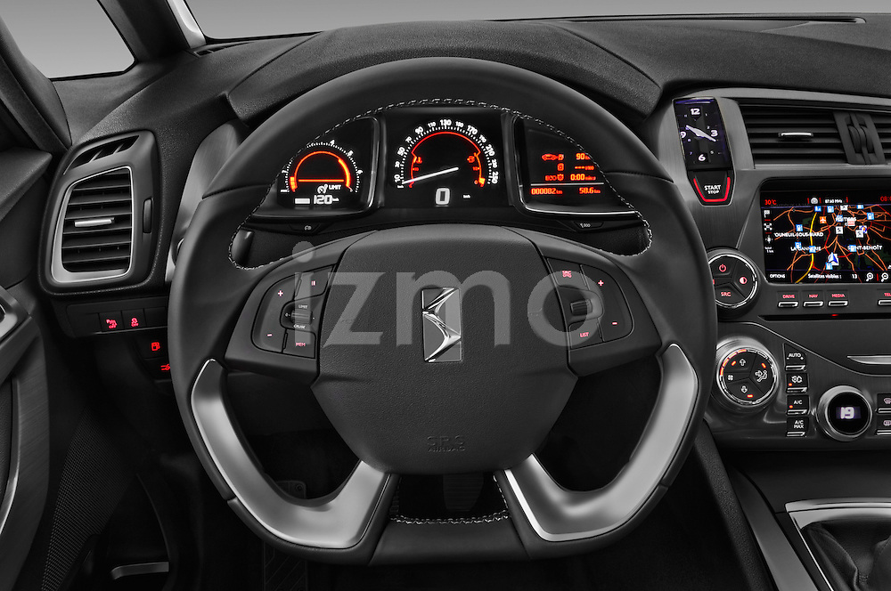 Car pictures of steering wheel view of a 2016 Citroen DS5 Sport Chic 5 Door Hatchback Steering Wheel