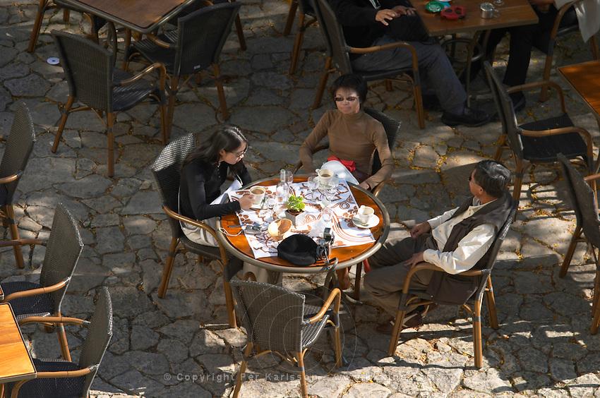 restaurant terrace place du marche saint emilion bordeaux france