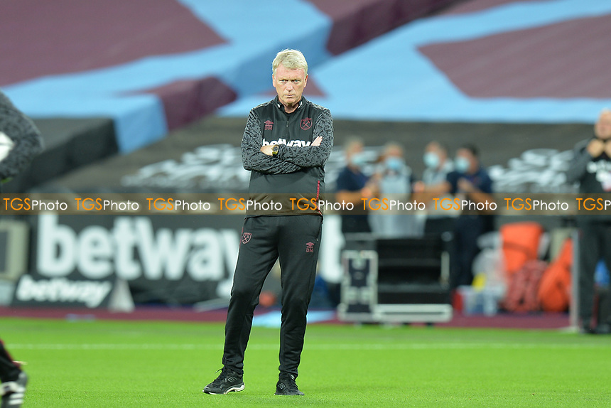 West Ham Manager David Moyes during West Ham United vs Newcastle United, Premier League Football at The London Stadium on 12th September 2020