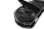 Car Stock 2016 Chevrolet Camaro 2LT 2 Door Convertible Engine  high angle detail view