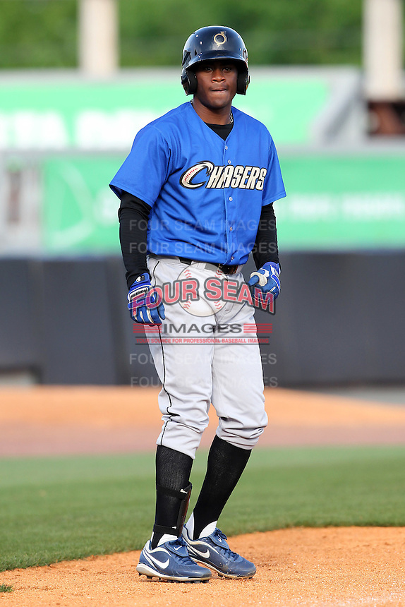 Omaha Storm Chasers third baseman Irving Falu #12 during batting practice before a game against the Nashville Sounds at Greer Stadium on April 25, 2011 in Nashville, Tennessee.  Omaha defeated Nashville 2-1.  Photo By Mike Janes/Four Seam Images