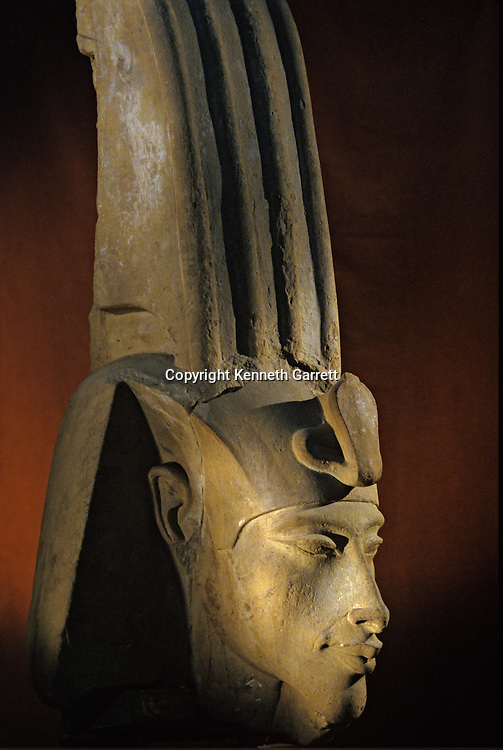 Head of colossal statue of Akhenaten; Karnak; Aten Temple; Amenhotep IV,Tutankhamun and the Golden Age of the Pharaohs, Page 110