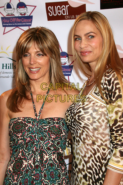 "MARLA MAPLES & CHRISTINA FULTON .""Hats Off For Cancer"" Benefit Party at Sugar Boutique, Hollywood, California, USA..May 9th, 2007.half length gold brown leopard print dress green halterneck .CAP/ADM/BP.©Byron Purvis/AdMedia/Capital Pictures"