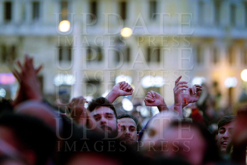 Concerto del Primo Maggio promosso da Cgil, Cisl e Uil in occasione della Festa del Lavoro, in piazza San Giovanni a Roma, 1 maggio 2017.<br /> May Day free concert on the occasion of the International Workers' Day, in St. John Lateran's Square, Rome, May 1, 2017.<br /> UPDATE IMAGES PRESS/Riccardo De Luca