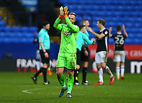 Bolton Wanderers' Ben Alnwick applauds the fans after the 1-1 draw against Fulham<br /> <br /> Photographer Leila Coker/CameraSport<br /> <br /> The EFL Sky Bet Championship - Bolton Wanderers v Fulham - Saturday 10th February 2018 - Macron Stadium - Bolton<br /> <br /> World Copyright &copy; 2018 CameraSport. All rights reserved. 43 Linden Ave. Countesthorpe. Leicester. England. LE8 5PG - Tel: +44 (0) 116 277 4147 - admin@camerasport.com - www.camerasport.com