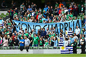 June 4th 2017, Aviva Stadium, Dublin, Ireland; International Friendly, Ireland versus Uruguay;  Uruguay supporters with banners