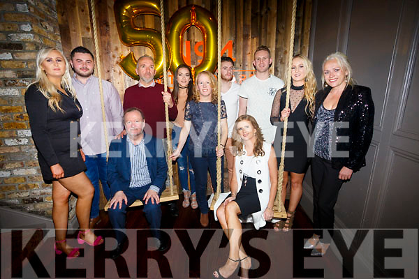 Brendan Healy celebrates her 50th birthday with family and friends a No.4 The Square on Saturday Front Noel King and Brenda Healy Back l-r Chelsee Healey, Ryan Downey, Wayne King, Danielle Bowler, Craig O'Hara, Alice Mulkern, Dara Healy, Sinean Healy,Sally Sheridan,