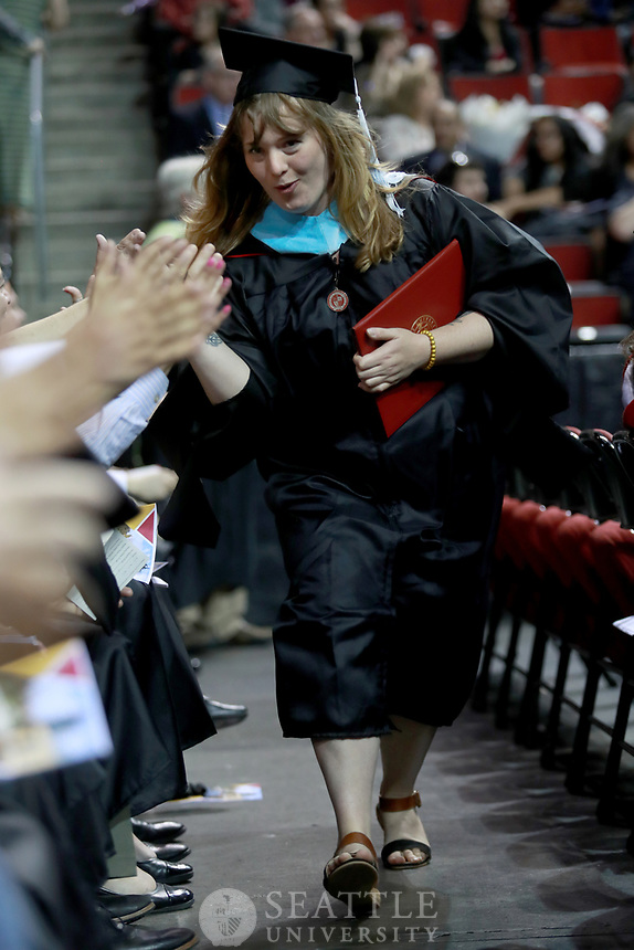 June 11th 2017 - The Seattle University graduate commencement ceremony at Key Arena.