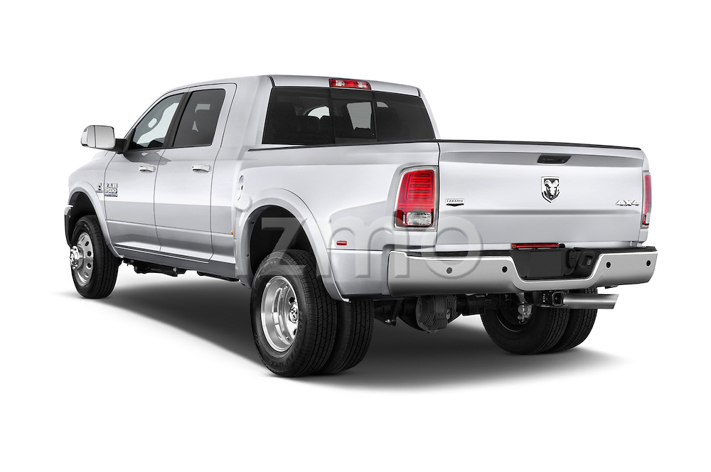 Car pictures of rear three quarter view of a 2015 Ram 3500 Laramie Mega Cab 4 Door Van angular rear