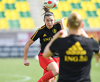 20190227 - LARNACA , CYPRUS :  Belgian Jody Vangheluwe pictured during a women's soccer game between the Belgian Red Flames and Slovakia , on Wednesday 27 February 2019 at the AEK Arena in Larnaca , Cyprus . This is the first game in group C for Belgium during the Cyprus Womens Cup 2019 , a prestigious women soccer tournament as a preparation on the Uefa Women's Euro 2021 qualification duels. PHOTO SPORTPIX.BE | DAVID CATRY