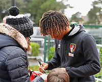 Nathan Ake of AFC Bournemouth signs an autograph during AFC Bournemouth vs Stoke City, Premier League Football at the Vitality Stadium on 3rd February 2018