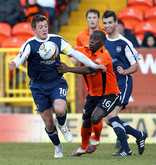 Richard Brittain gets away from Morgaro Gomis