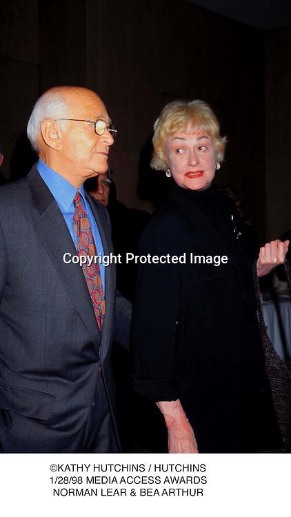 ©KATHY HUTCHINS / HUTCHINS.1/28/98 MEDIA ACCESS AWARDS.NORMAN LEAR & BEA ARTHUR