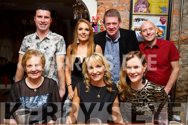 Rosaleen Godley enjoying her birthday celebrations in the Croi Restaurant on Friday last. Seated l-r, Mary, birthday girl Rosaleen and Marion Godley.<br /> Back l-r, Willie Joe Leen, Claire Flahive, Kieran Godley and Patrick Flahive.