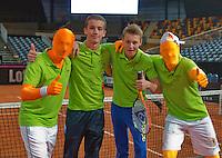Februari 08, 2015, Apeldoorn, Omnisport, Fed Cup, Netherlands-Slovakia, Volley challenge winners<br /> Photo: Tennisimages/Henk Koster